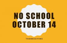No School October 14