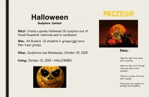 Halloween Sculpture Contest