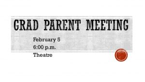 Grad Parent Meeting